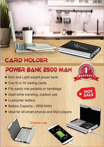 Power Bank 2500 MAH Card Holder
