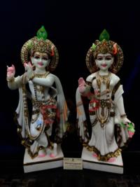 White Marble Radha Krishna Murti