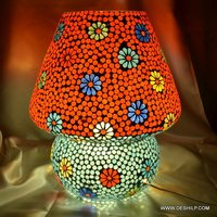 COLORFUL GLASS MOSAIC TABLE LAMP