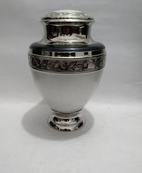Elegant Pearl Solid Brass Cremation Memorial Urn