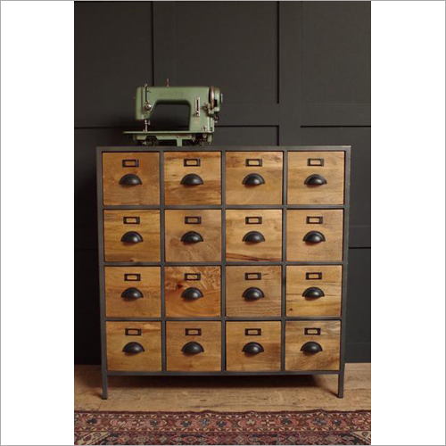 16 Drawer Wooden Chest