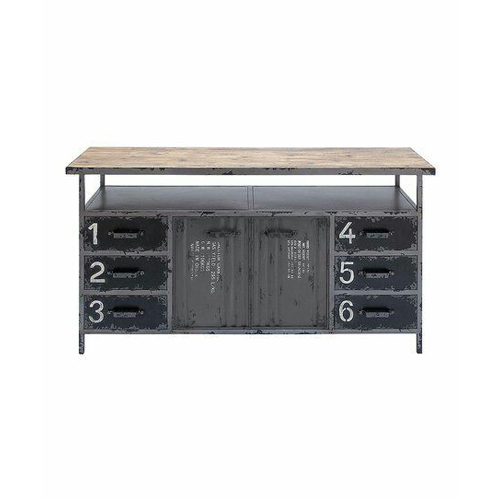 6 Drawer Wooden Sideboard