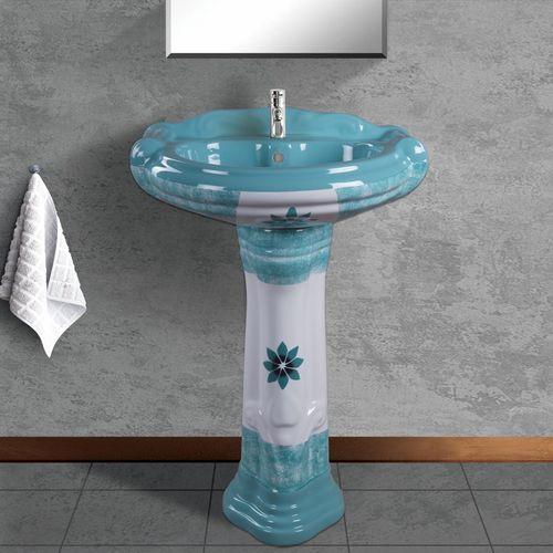 Coloured Wash Basin Pedestal