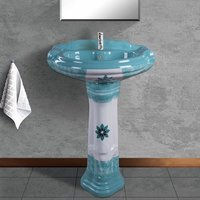 Coloured Wash Basin Pedestal