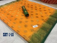 Flower Border Kanchivaram Rich Pallu Design Saree