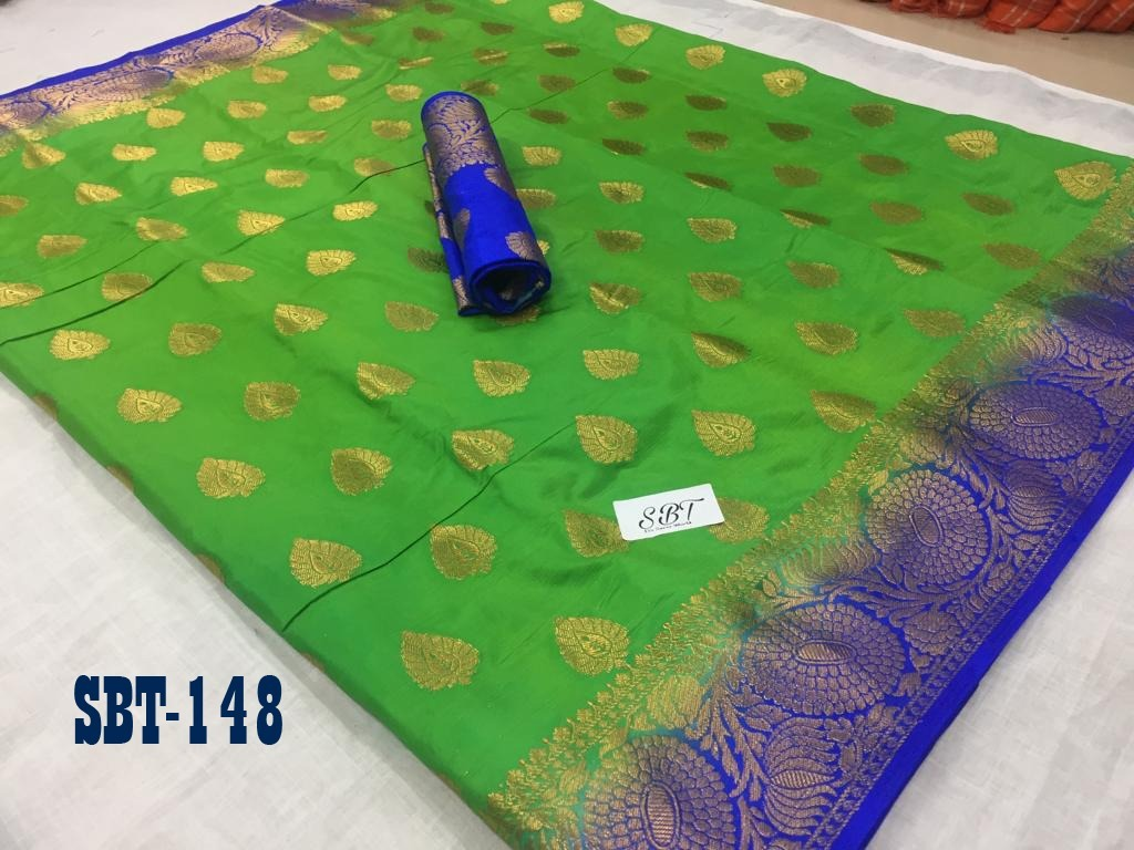 Flower Border Kanchivaram Rich Pallu Design Saree