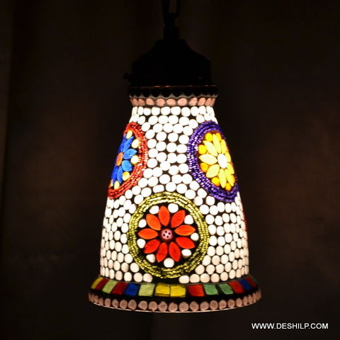 THICK GLASS MOSAIC WALL LAMP