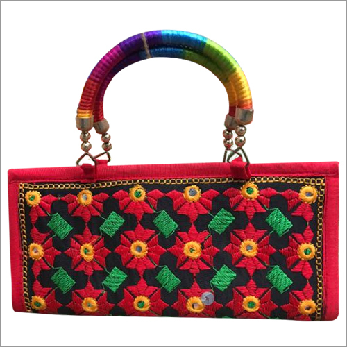 Small Size Embroidery Handle Bag