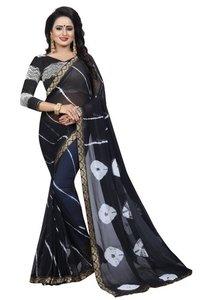 New Bandhani Saree With Jacquard Lace