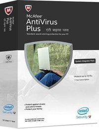 Mcafee Antivirus 10 PC 1 Year