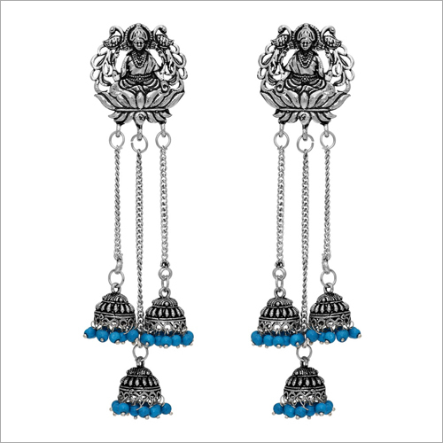 Ladies Metal Oxidized Earring