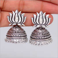 Ladies Ethnic Lotus Design Jhumka
