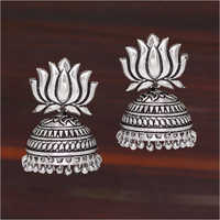 Ladies Oxidised Plated Jhumka