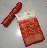 Pure Soft Kanchivaram Nylon Jequard  Butta  Design Saree