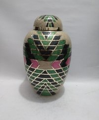 Multi-Color Brass Cremation Urn