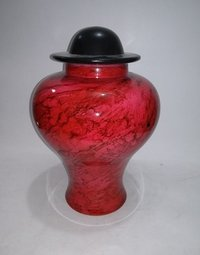 Red Marble Adult Cremation Urn