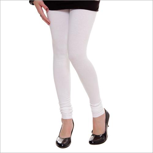 Ladies White Cotton Leggings