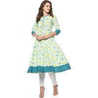 Printed Anarkali Cotton Kurti