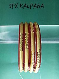 Gold Plated Fancy Brass Bangle For Women