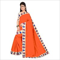 Chanderi Cotton Chiku Design Saree