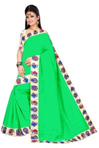 Chanderi Cotton Chiku Design Saree