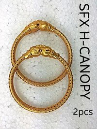 Gold Plated Fancy Brass Bangle