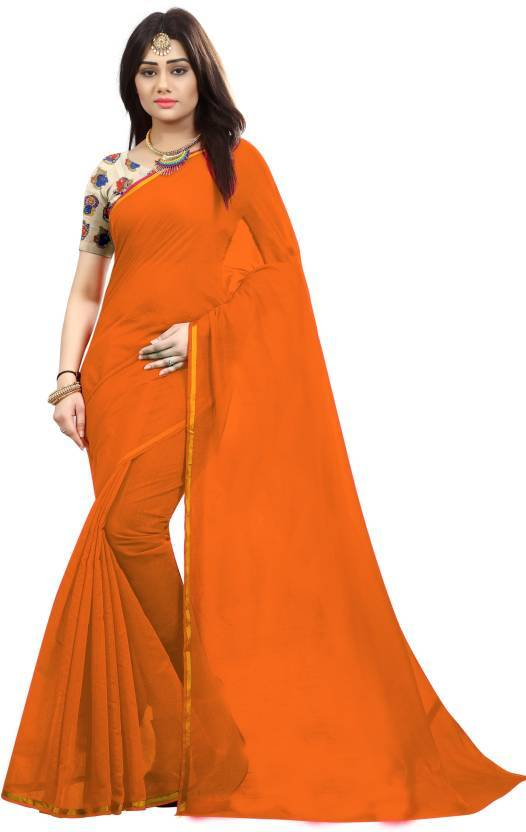 Chanderi Plain Saree