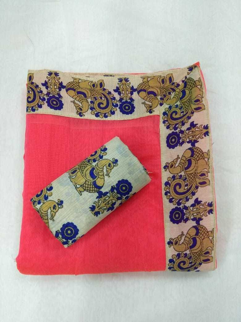 Fancy Chanderi Cotton Saree