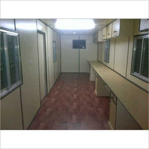 Office Container With Workstation & Upper Cabinet
