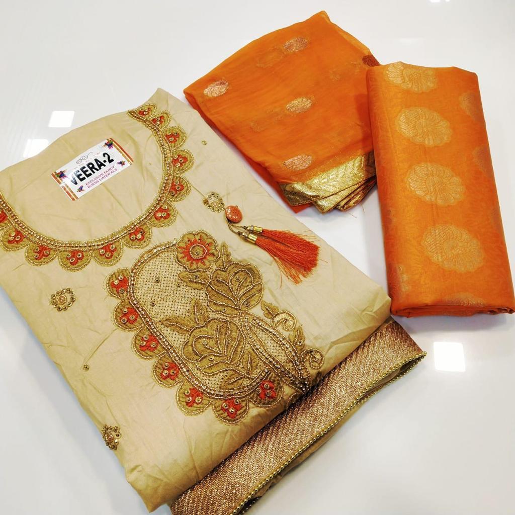Latest Cotton Dress Materials