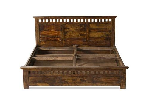 Wooden Double Antique Sheesham Wood Bed