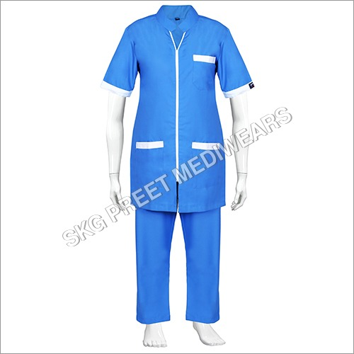 Blue Reusable Nursing Uniform
