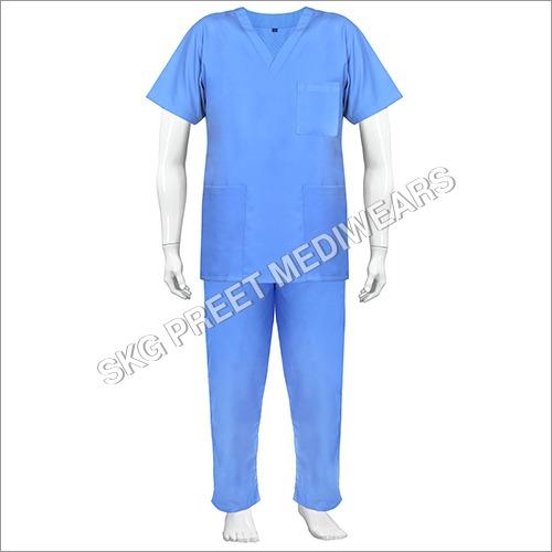 Cotton Blue Color Scrub Suit
