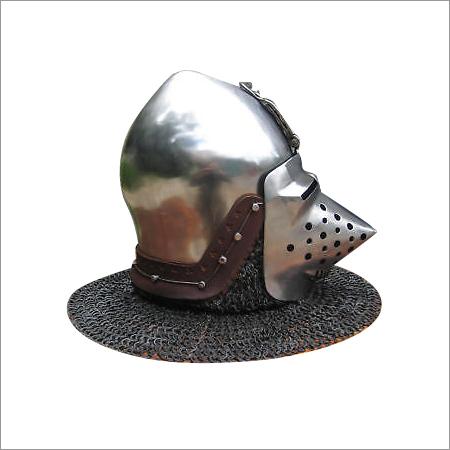 Antique Steel Armor Pig face  Helmet