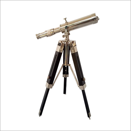 Aluminum Telescope With Wooden Tripod