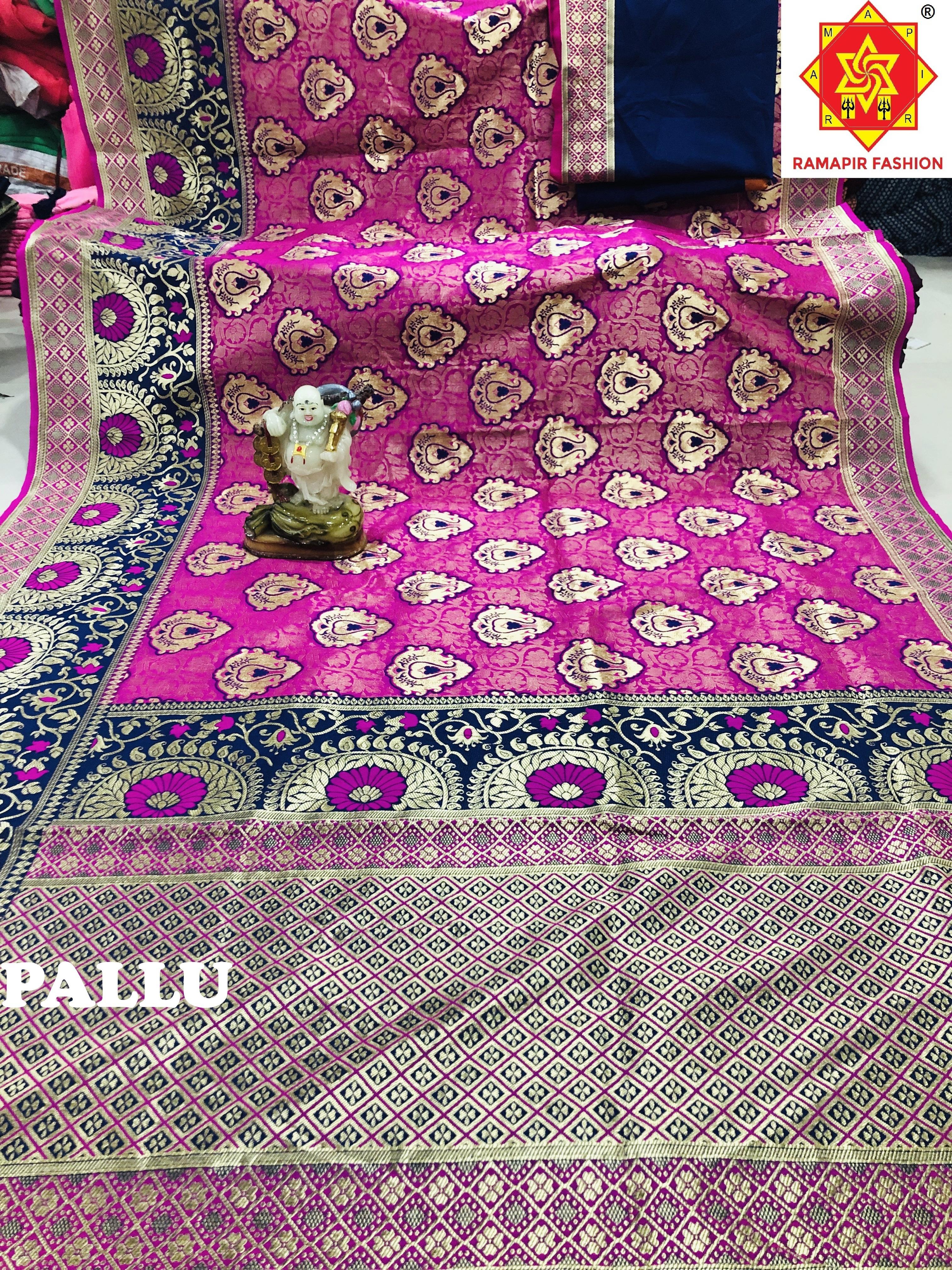 New Flower Design Banarasi Saree