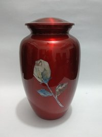 Red Adult Cremation Urn For Ashes