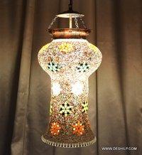 MOSAIC FINISH GLASS WALL HANGING LAMP