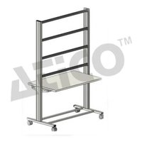 Mobile Aluminum Experiment Stand and Power Strip with 6 Sockets