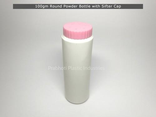 100gm Round Shifter Talcum Powder Bottle