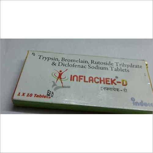 Trypsin Bromelain Rutoside Trihydrate Diclofenac Tablets