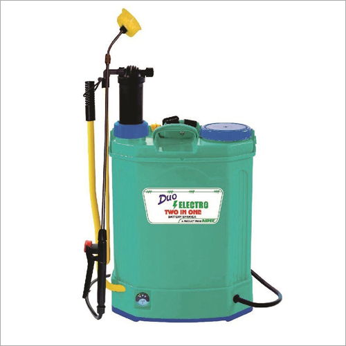 Battey operated agricultural sprayer