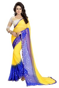 New Designer Chiffon Bandhani Saree