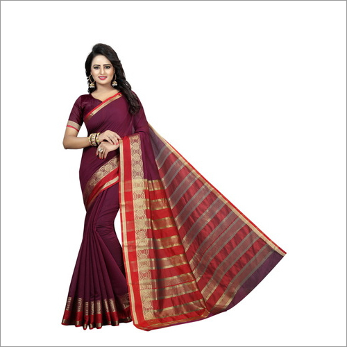 Latest Fancy Cotton Designer Sarees
