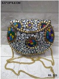Multi colors mosaic clutches