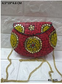 Multi colors mosaic clutches