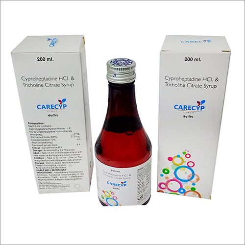Cyproheptadine Hydrochloride Citrate Syrups