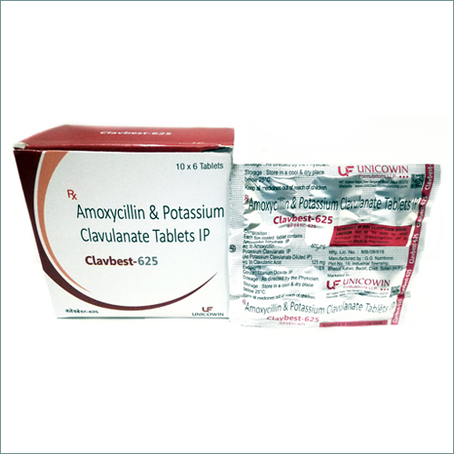 Amoxycillin 500mg & Potassium Clavulanate 125mg Tablets