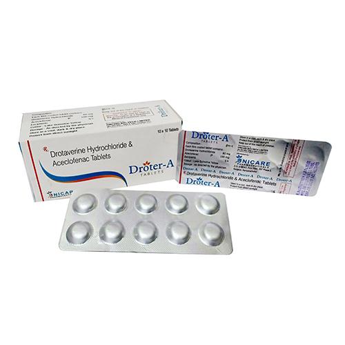 Drotavrine Hydrocloride  Aceclofenac Tablets