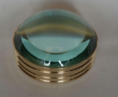 Solid Brass Desktop Magnifier Magnifying Glass Lens